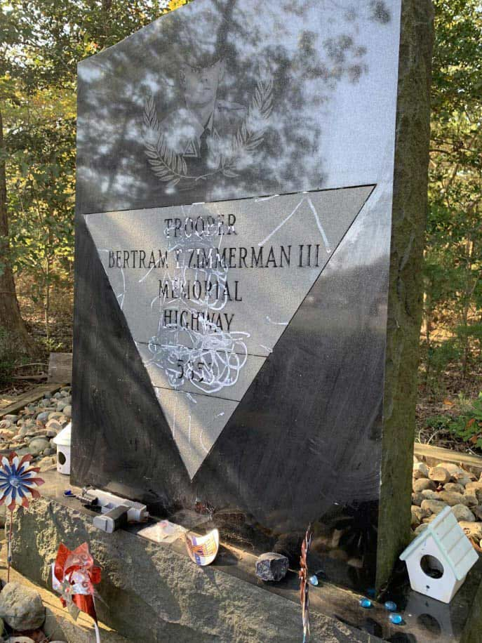 Gravestone of Bertram Zimmerman
