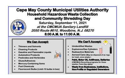 Household Hazardous Waste Collection and Community Shredding Day