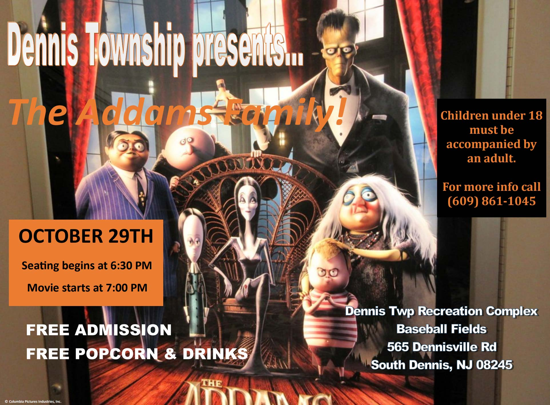 Dennis Township Presents: The Adams Family!